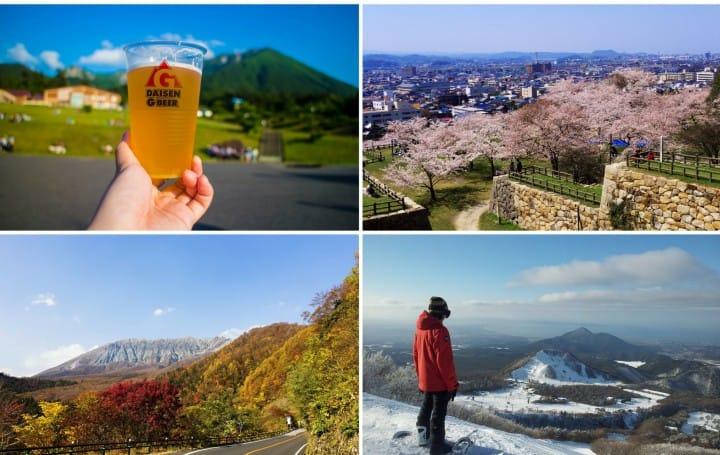돗토리의 계절 이벤트 스케줄, 벚꽃부터 마쓰리(축제), 단풍까지