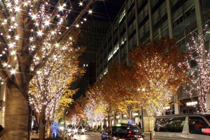 2017東京聖誕景點燈飾 丸の内仲通り、東京站周邊