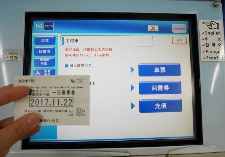 東京一日遊地鐵一日券
