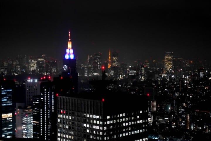 東京一日遊東京都廳夜景