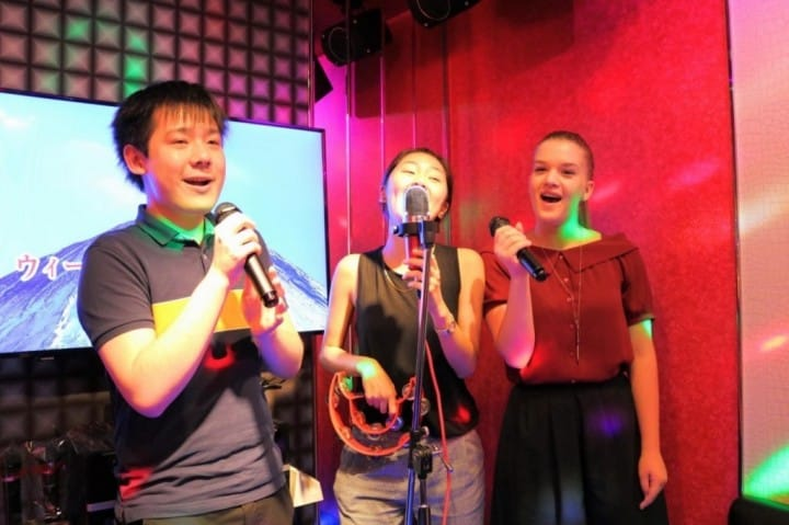 Image result for singing karaoke""