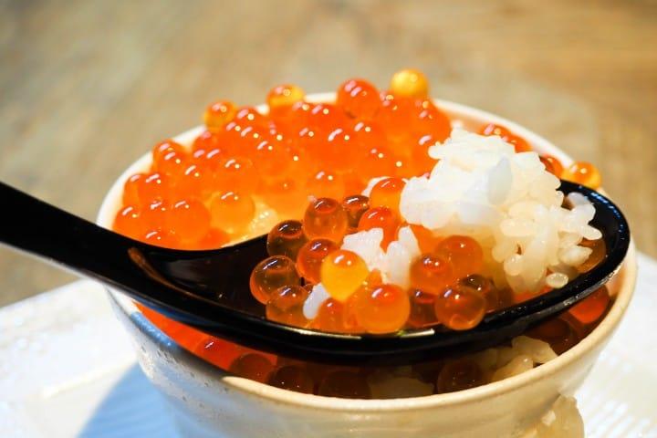 北海道鮭魚卵丼