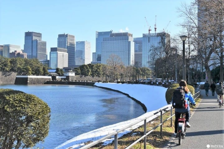 Thuê xe đạp share cycle khi du lịch! Chuyến thăm quan nửa ngày qua Tsukiji, Odaiba, Ginza, hoàng cung!
