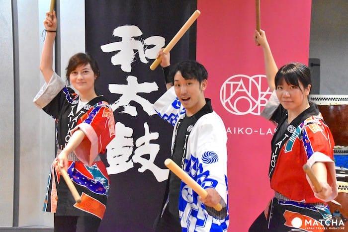 まるでエクササイズ⁉「TAIKO-LAB」で日本の伝統打楽器を演奏しよう