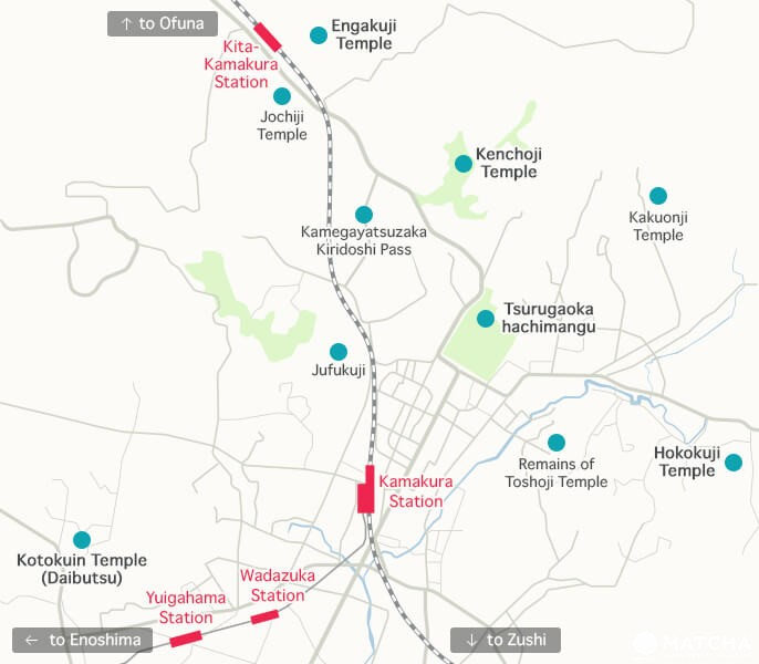 Kamakura Station Map Kamakura Travel Guide   Top 20 Spots | MATCHA   JAPAN TRAVEL WEB