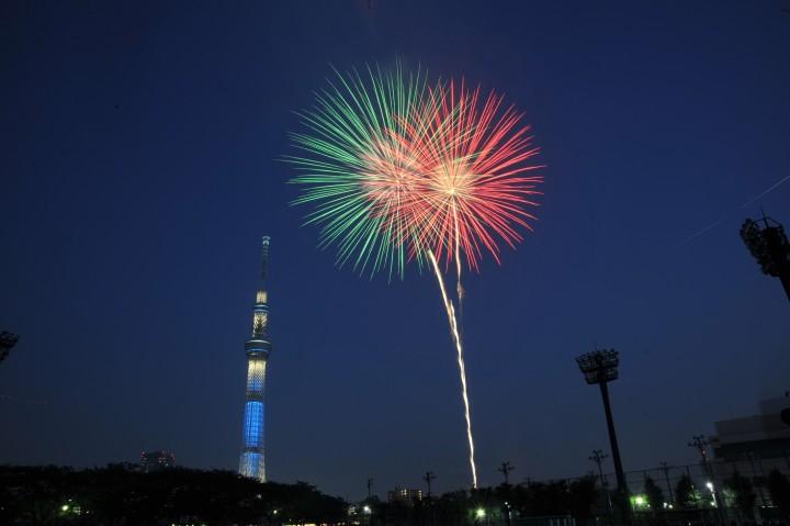 晴空塔と隅田川