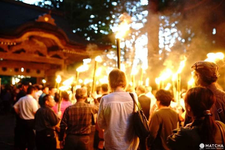 The Magnificent Parade Of Torches On Mount Daisen, Tottori