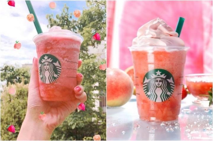 星冰樂 蜜桃粉水果星冰樂
