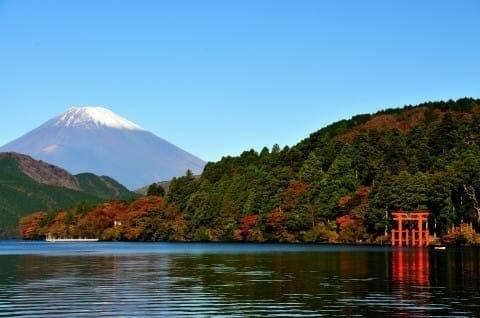 箱根 賞楓  蘆之湖 秋天