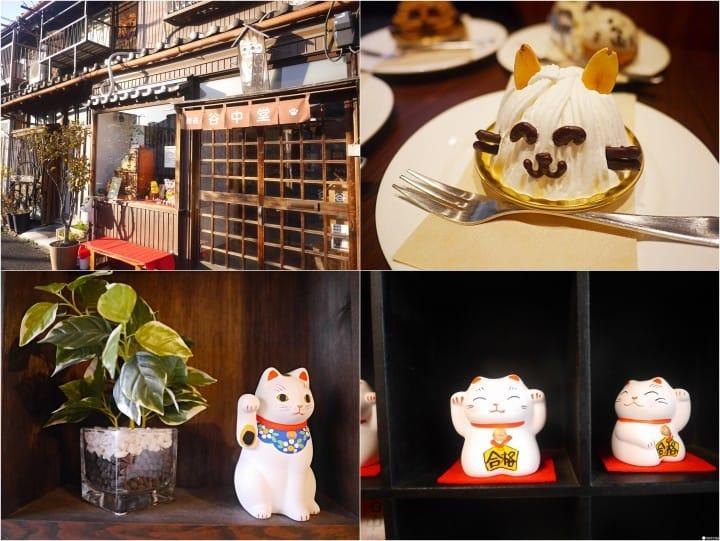 『谷中银座』边吃猫蛋糕边绘制自己的招财猫:咖啡猫卫门