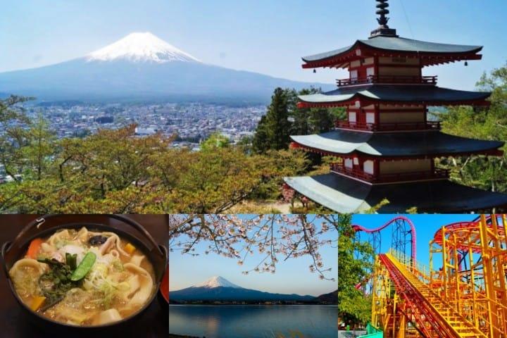 ไปชมฟูจิที่ทะเลสาบคาวากุจิโกะ และที่เที่ยวน่าสนใจรอบๆ ทั้งเจดีย์ 5 ชั้นและ Fuji Q Highland