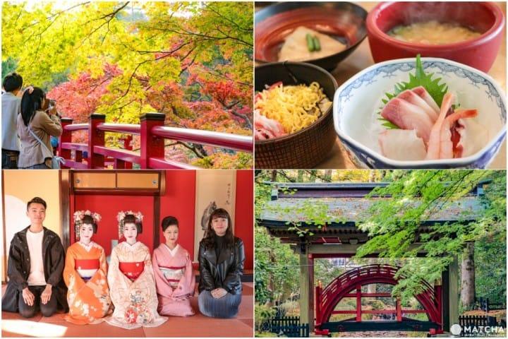 山形・新潟の日本海沿岸1泊2日小旅行。温泉、海鮮グルメ、神社の紅葉をまるごと満喫!