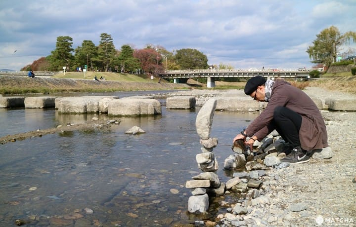 Kamogawa Delta In Kyoto - A Popular Local Spot With Fun Rock Art