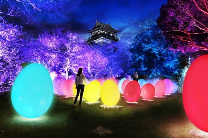 TEAMLAB廣島城光之祭1