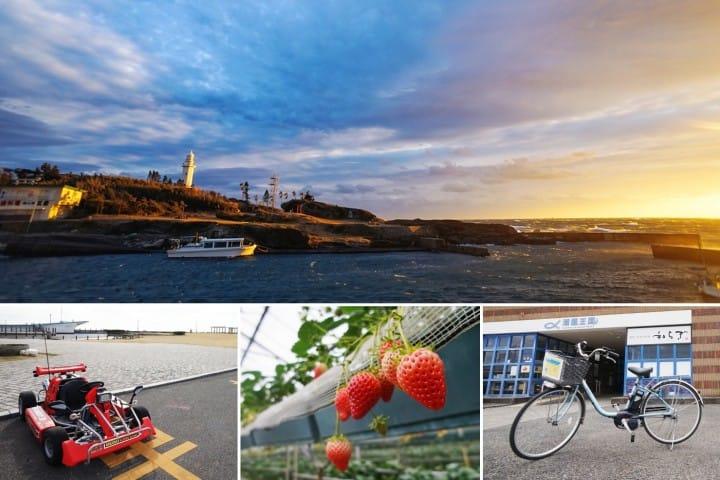 ปั่นจักรยานรับลมทะเล เก็บสตรอเบอร์รี่ที่ มินามิโบโซ เมืองใต้สุดของชิบะ (Minamiboso, Chiba)