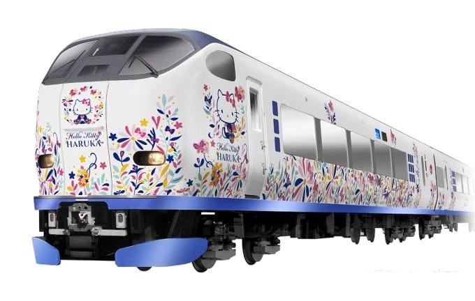 Hello Kitty和你暢遊關西!大阪、京都HARUKA號彩繪kitty車