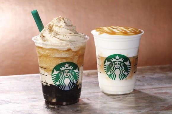 Starbucks Coffee Jelly Frappuccino And Mousse Foam Caramel Macchiato