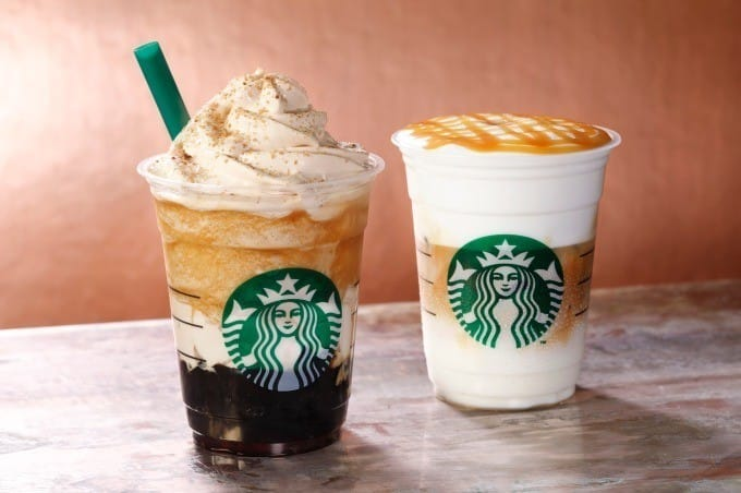 Starbucks Crafted Coffee Jelly Frappucino และ Mousse Foam Caramel Macchiato