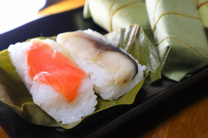 Sushi Wrapped in a Leaf? Try the Persimmon Leaf Sushi in Nara