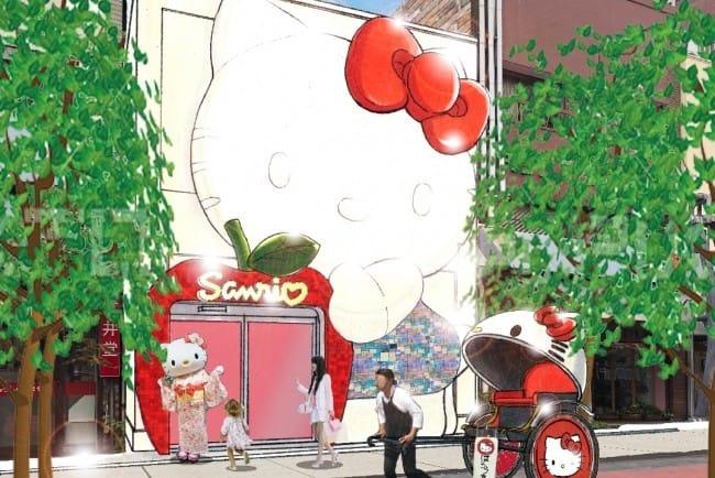 Sanrio Gift Gate ร้านซานริโอ้ Hello Kitty สาขาใหม่กลางอาซากุสะ (Asakusa)