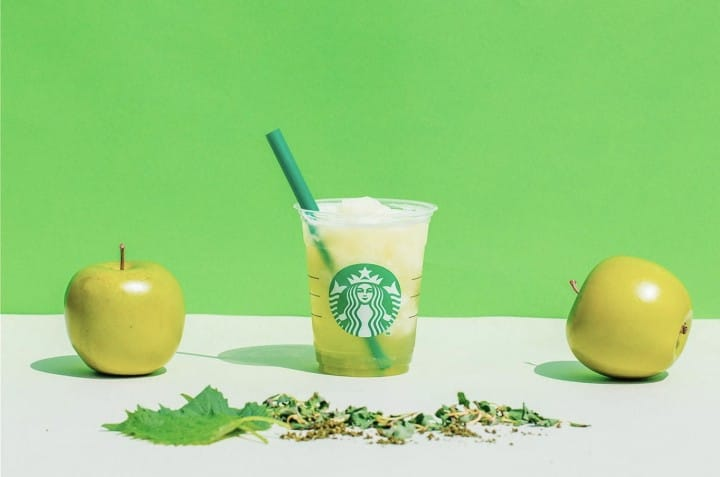 星巴克茶瓦納冰凍綠蘋果煎茶