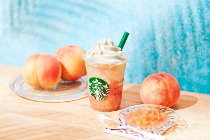 日本星巴克 Peach on the peach frappuccino