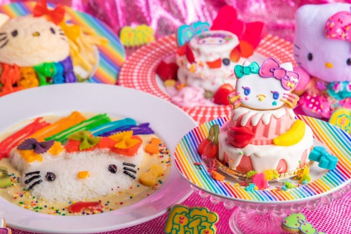 Rainbow Desserts In Harajuku! Hello Kitty And Kawaii Monster Cafe Event