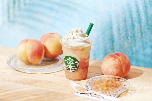 Starbucks Japan Peach On The Beach Frappuccino