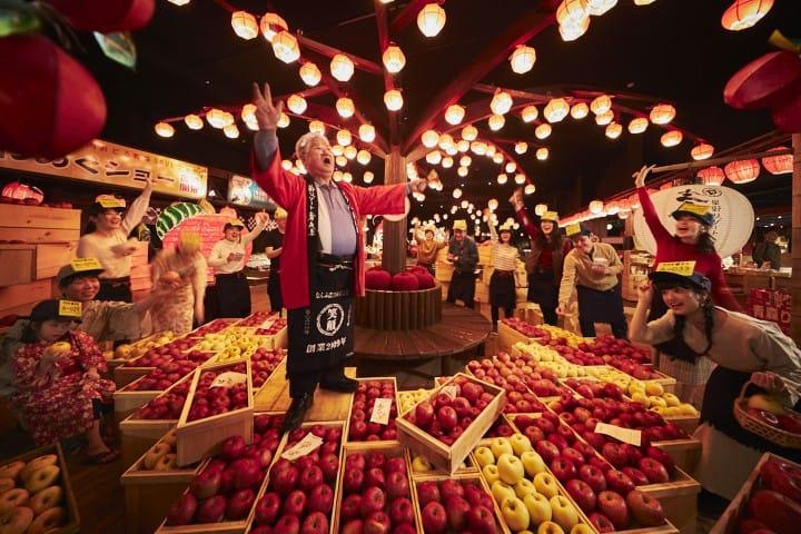 青森屋 リンゴ競り