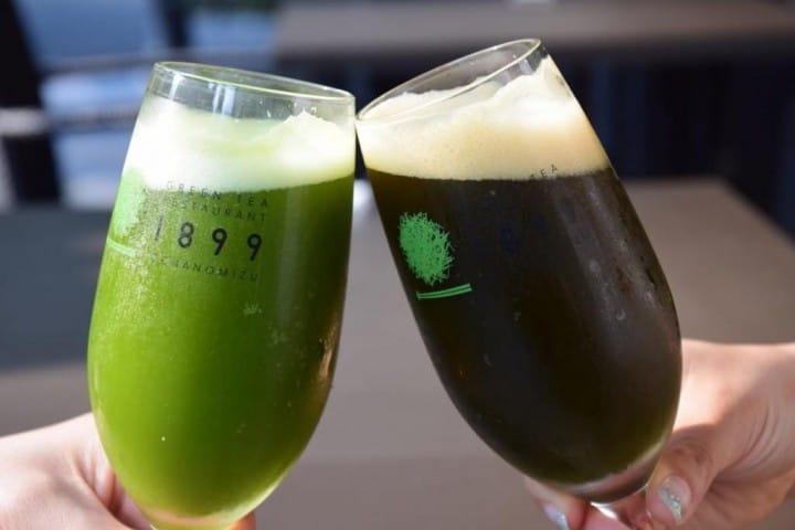 GREEN TEA RESTAURANT 1899 OCHANOMIZU - Enjoy Matcha Flavored Draft Beer