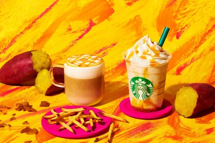 Starbucks Sweet Potato Gold Frappuccino and Macchiato