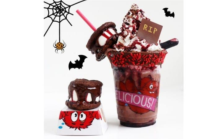 Halloween At Cookie Bar Harajuku - Bloody Berry Freak Shakes And S'mores