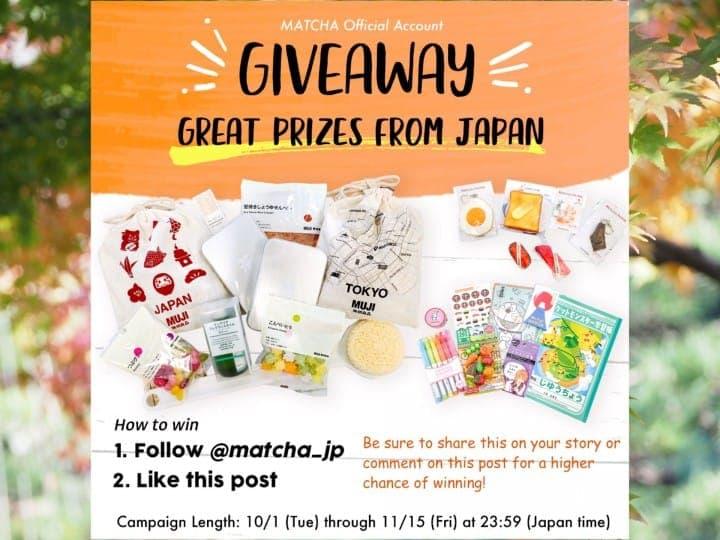 Bagi-Bagi Hadiah Khas Musim Gugur Jepang di Instagram MATCHA!