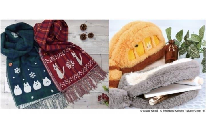 Ghibli Winter Wear- Totoro, Jiji And Calcifer Scarfs, Hats And Gloves