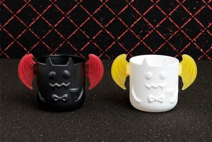 Starbucks Japan Halloween Red And Dark Night Frappuccino & Cup Holders