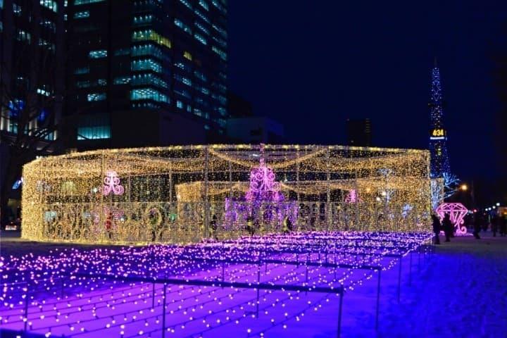 白色聖誕燈飾節&札幌雪祭