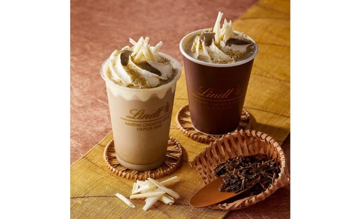 Lindt Japan's New Permanent Roasted Tea Chocolate Drink