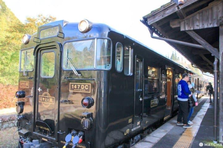 鹿兒島懶人玩法!搭特色列車「隼人之風」繞著櫻島觀光去