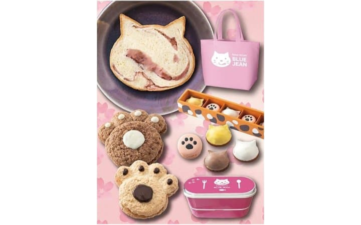 Spring Cat Sweets Set At Bakery & Cafe Blue Jean In Osaka