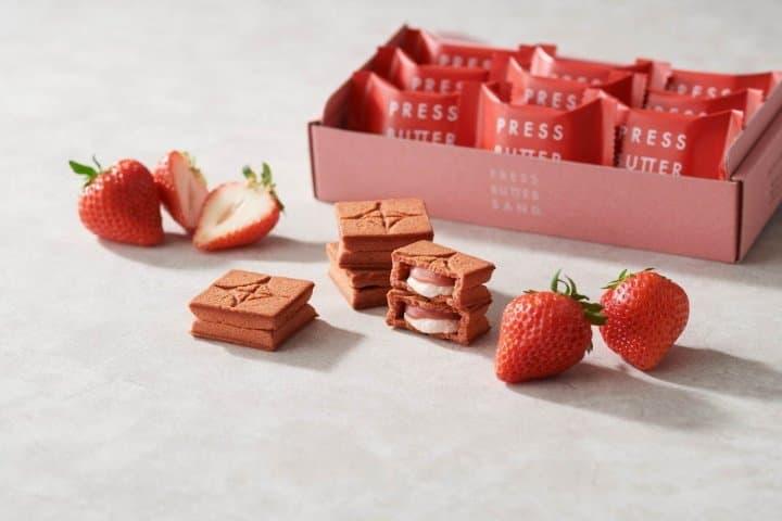 PRESS BUTTER SAND 草莓口味
