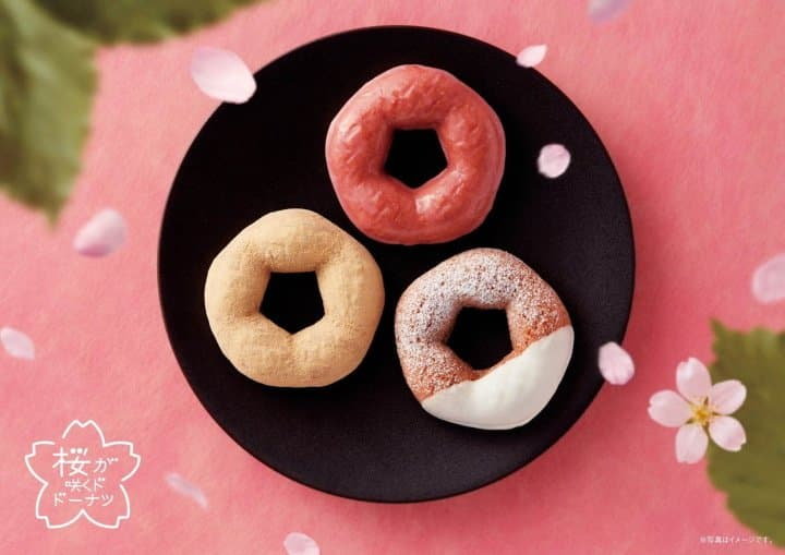 Mister Donut Releases The Blooming Cherry Blossom Doughnut Series