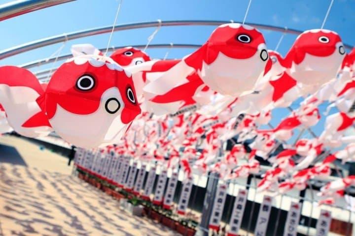 【山口】魚兒滿街游!逛「柳井白壁老街」DIY做紙金魚燈籠