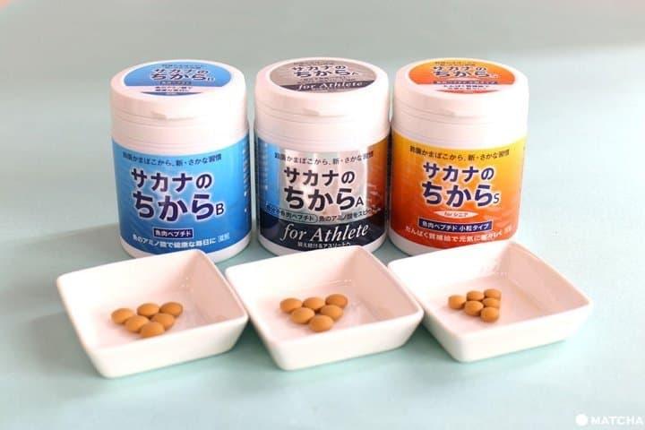 """健康的秘诀""""海鱼精华(SAKANA NO CHIKARA)""""。只需少许就可保证每日的蛋白质摄取!"""