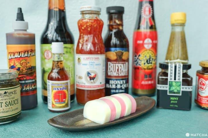 BBQソースにスイートチリ。世界の調味料とかまぼこのおいしい組み合わせを発見!