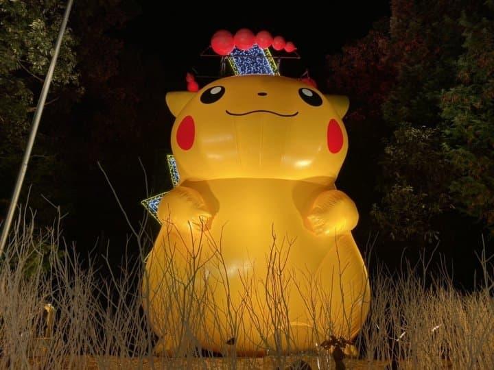 相模湖森林遊樂園  寶可夢聖誕皮卡丘燈飾